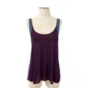 We the Free (People)- Red Stripe Tank Size Small